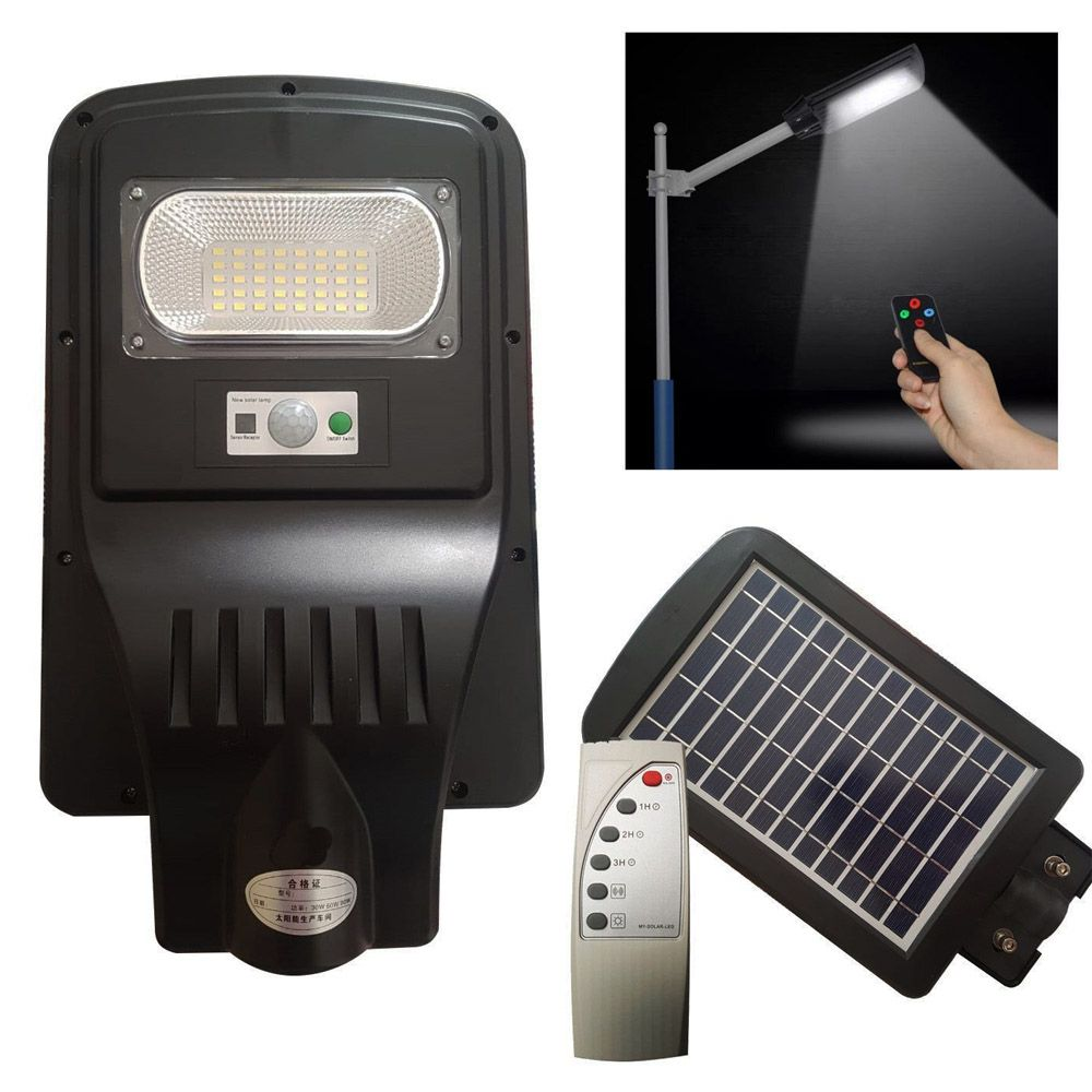 luminária refletor 30w poste pública led com controle remoto