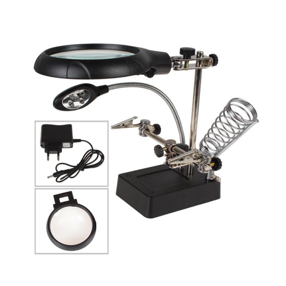 0235400744b96 lupa de mesa aumento 10x com fonte luz e suporte de Solda - New Mix  Comercial ...