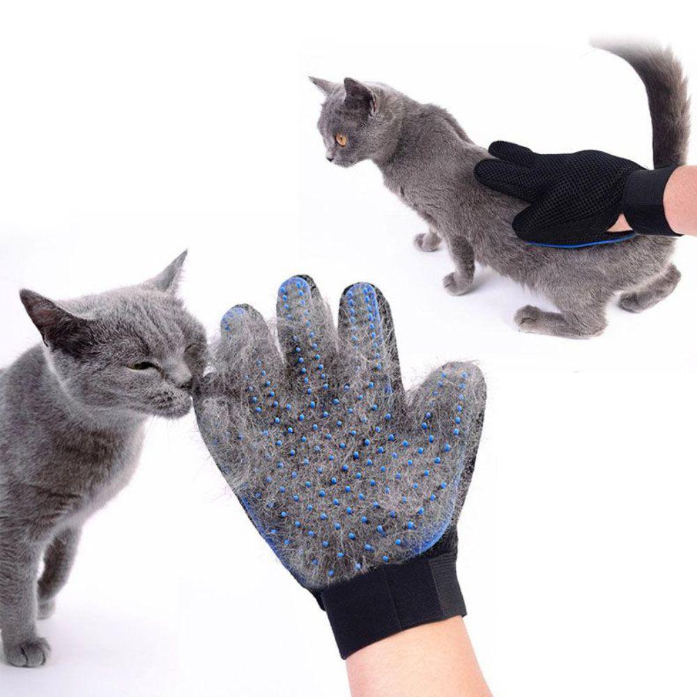 luva magnética tira pelos de pets escova para cães e gatos