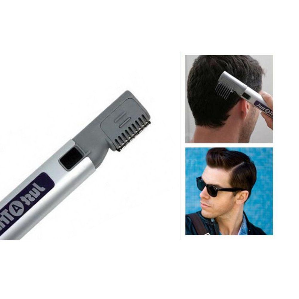 maquina aparador de barba cabelo pelos portátil com 2 pentes