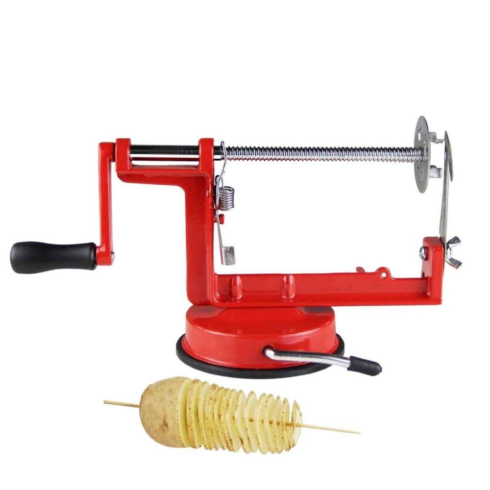 maquina de corta em espiral batatas legumes e verduras