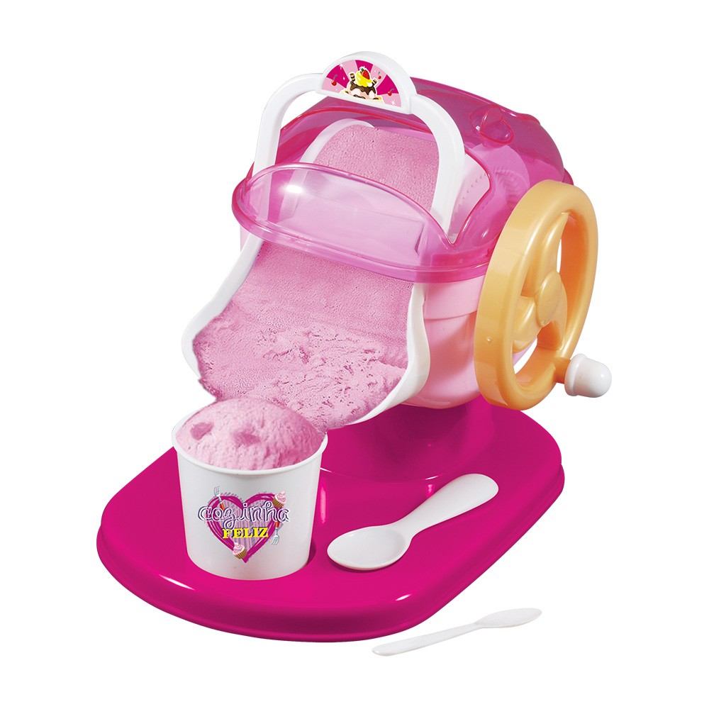 maquina de sorvete infantil manual cozinha feliz 6 peças