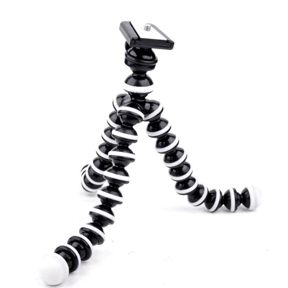 mini tripé flexível universal para câmera e celular - branco