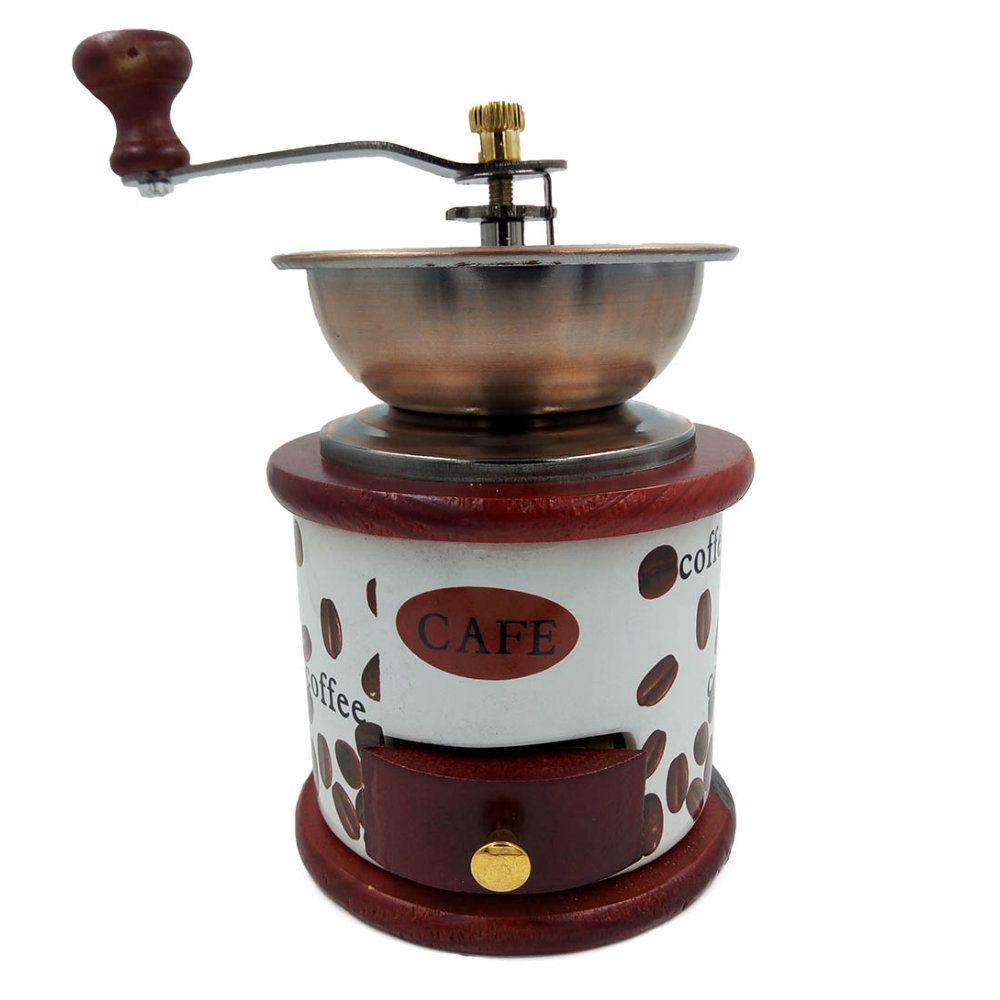 moedor de frãos cafe manual portátil em cerâmica 19cm