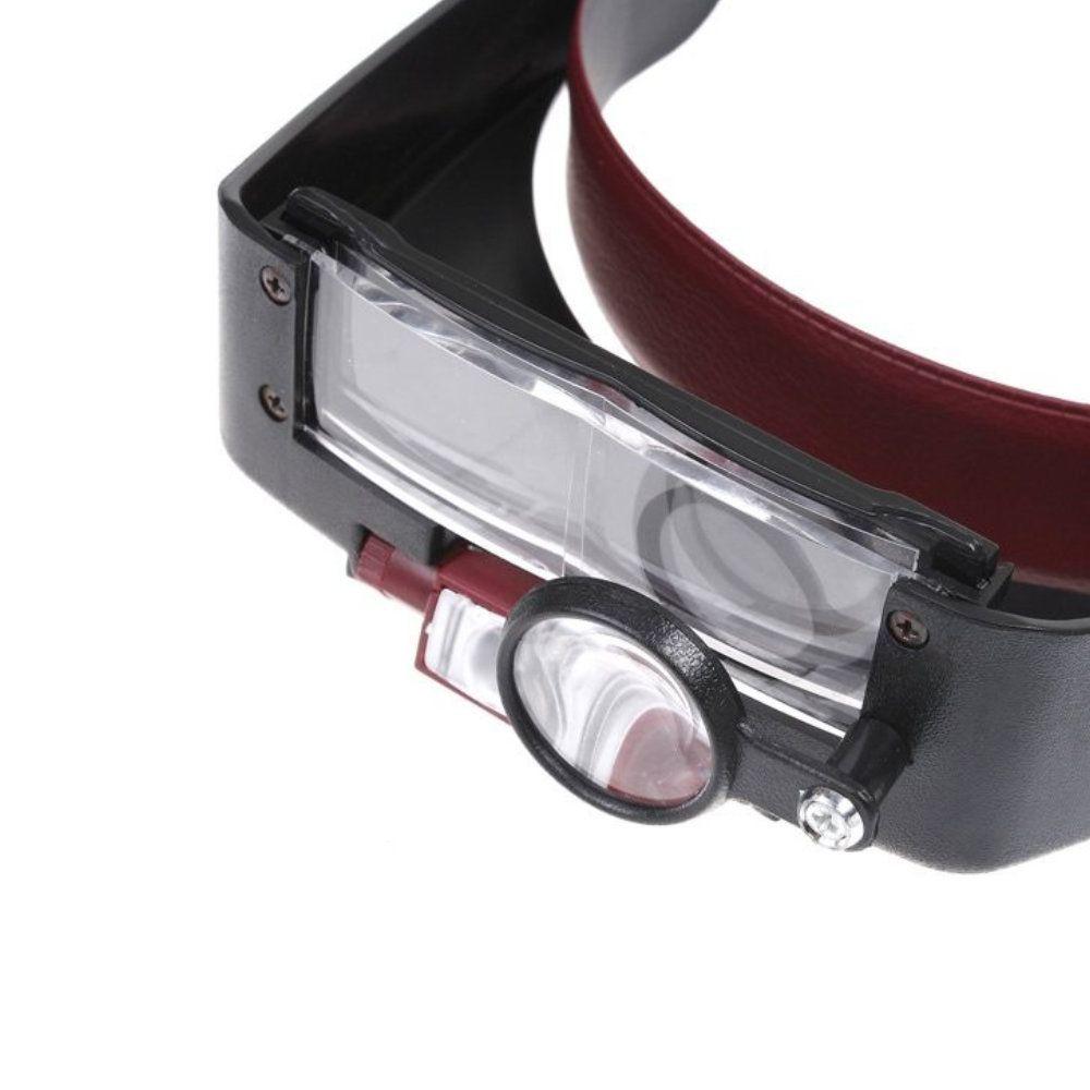 ... óculos lupa de cabeça profissional 3 lentes com luz led - New Mix  Comercial 98eff2574b