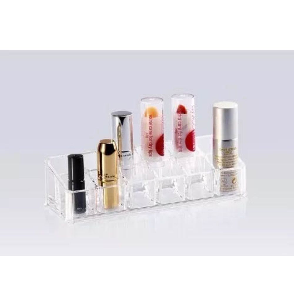 organizador porta batom maquiagem acrílico 12 divisorias