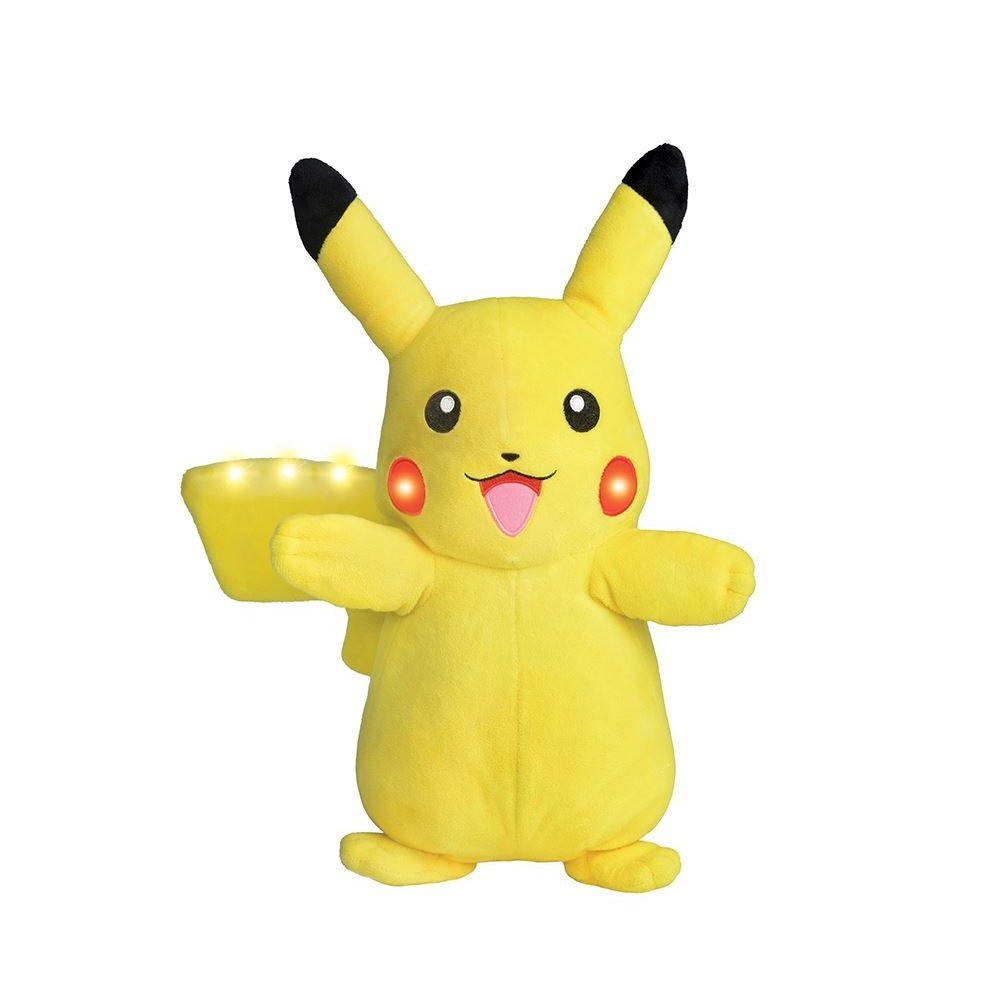 pelúcia pokémon pikachu power action com luz e som dtc