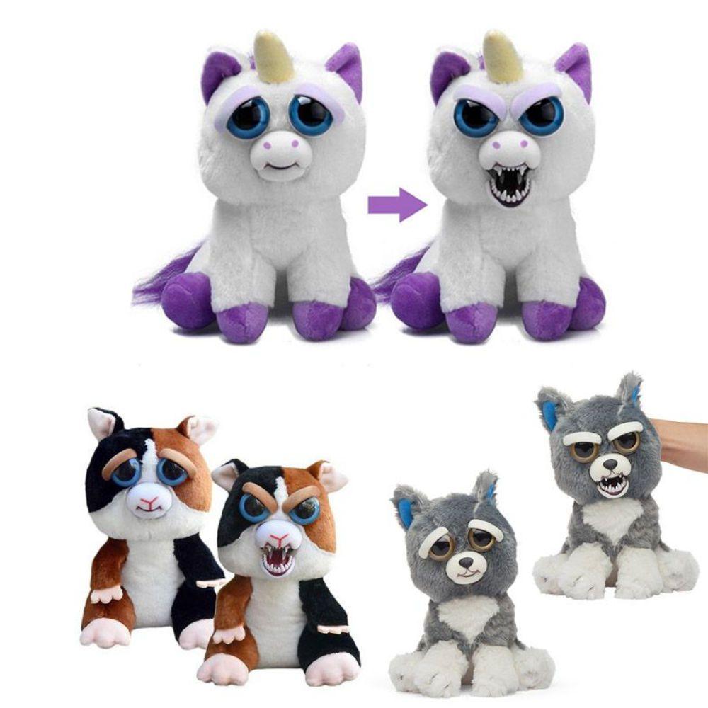pelúcias feisty pets animais vários modelos 20 cm - dtc