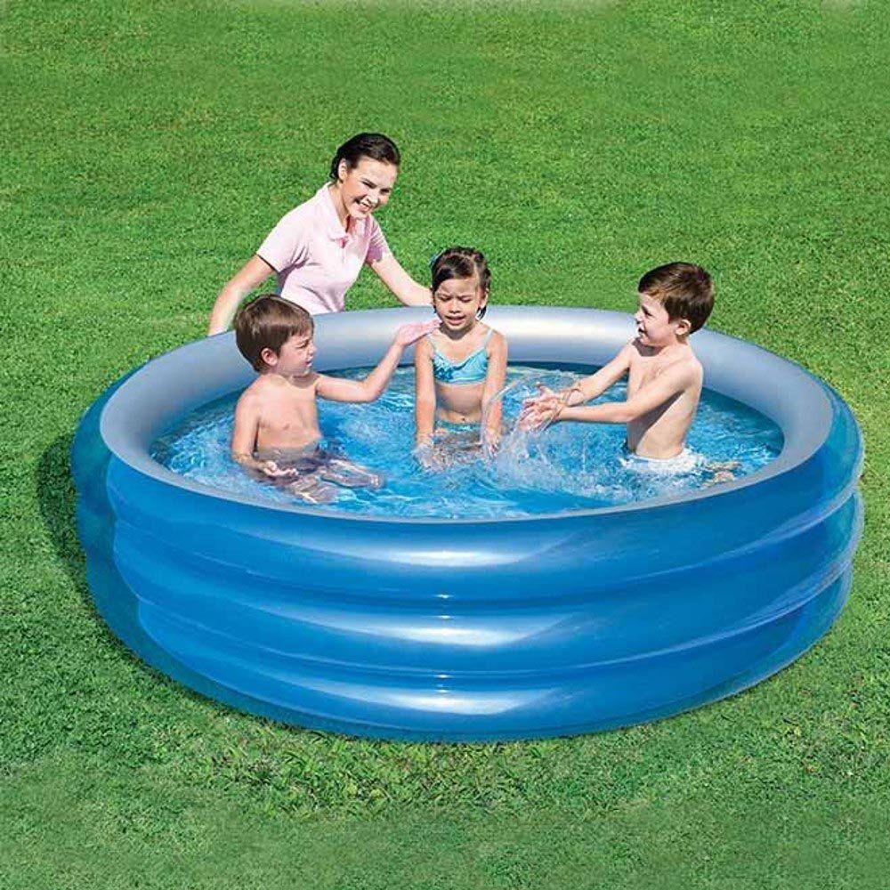 piscina infantil inflável grande 3 anéis resistente 697l