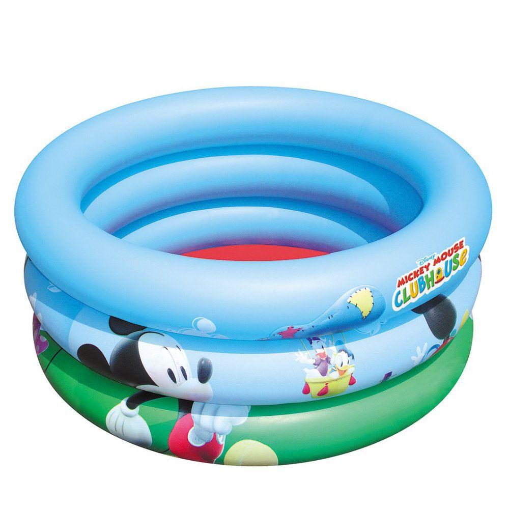 piscina inflável infantil 38 litros disney mickey 70x30