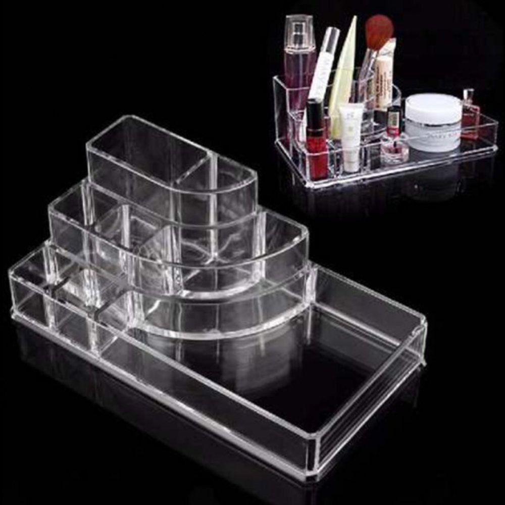 porta maquiagem joias organizador em acrílico 8 divisões