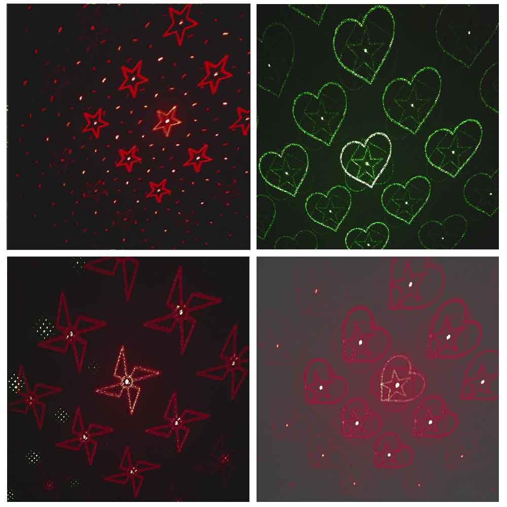 projetor laser decoração natal e festas espeto de Jardim