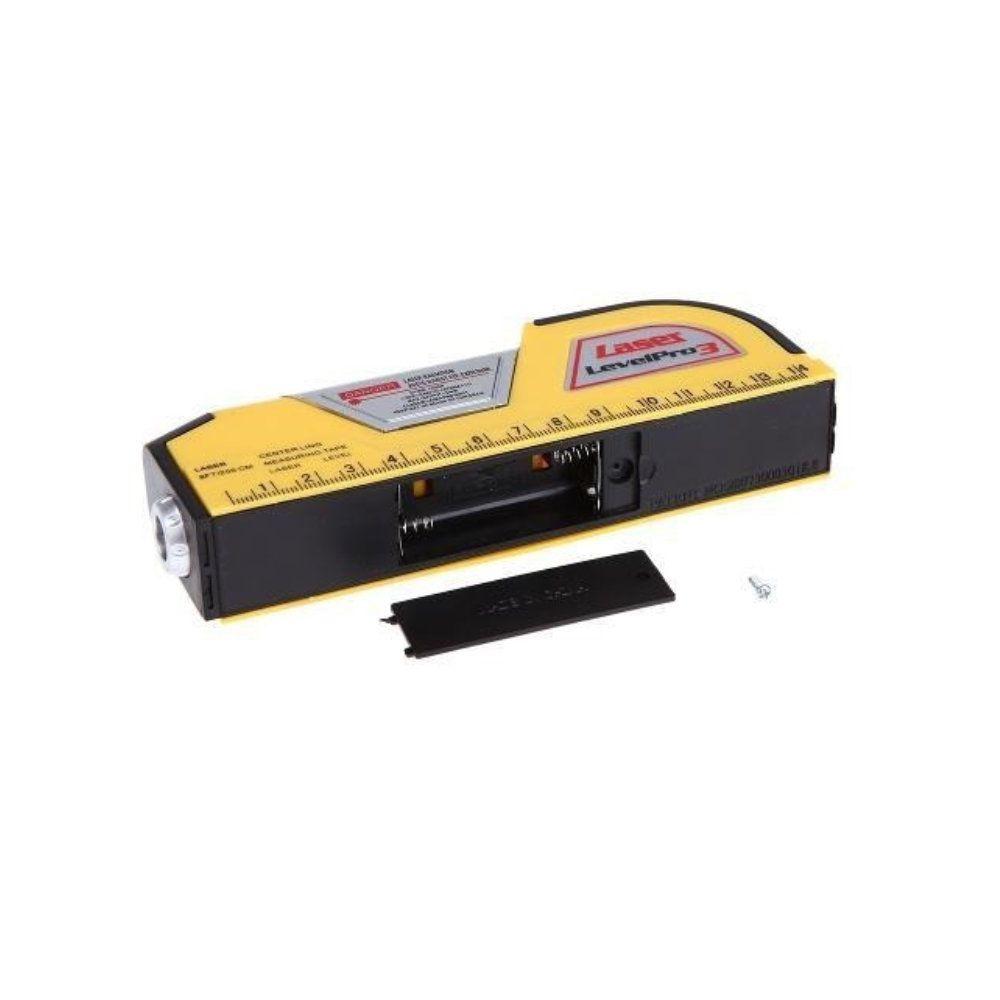 prumo nivelador laser horizontal vertical com trena 2 bolhas