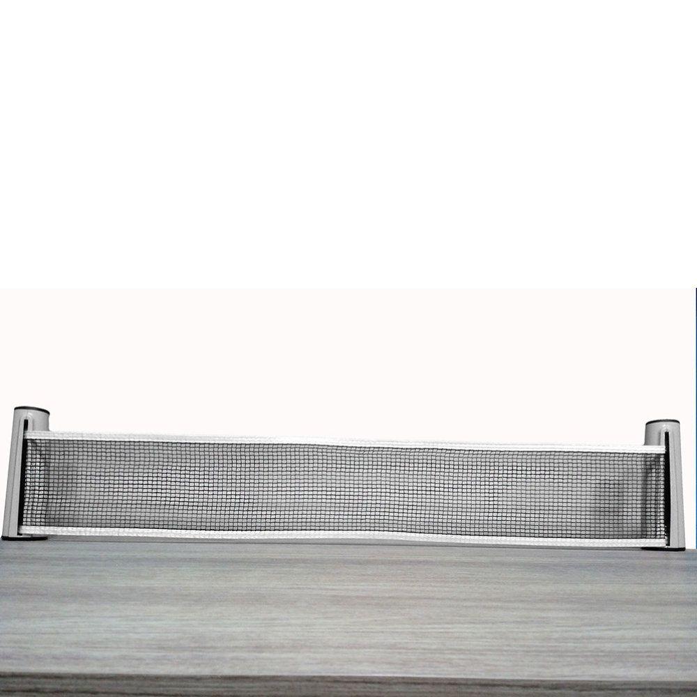 rede de ping pong retrátil com grampo fixador de mesa 1,70m