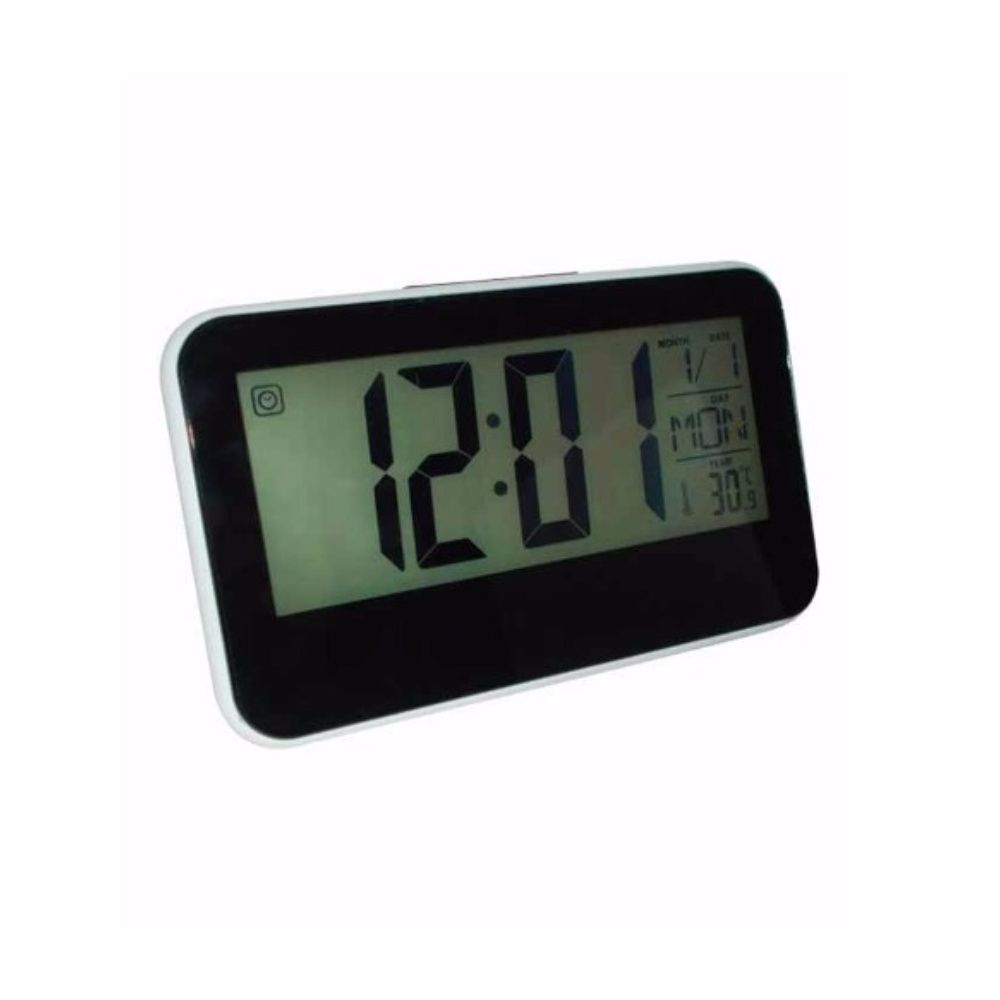 767989f240d relógio de mesa digital controle voz data temperatura hora - New Mix  Comercial ...