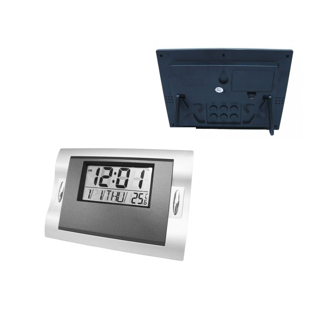 d90e4ea9f8e relógio de parede ou mesa calendário despertador termômetro - New Mix  Comercial ...
