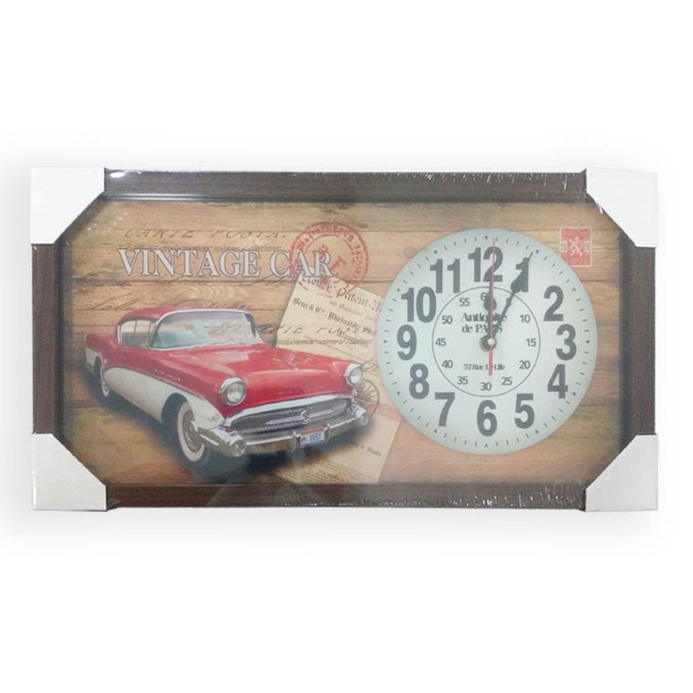 relógio de parede quadro decorativo retro de 26x50cm - r04