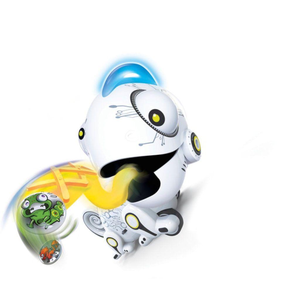 robô camaleão de controle remoto com luzes led coloridas dtc
