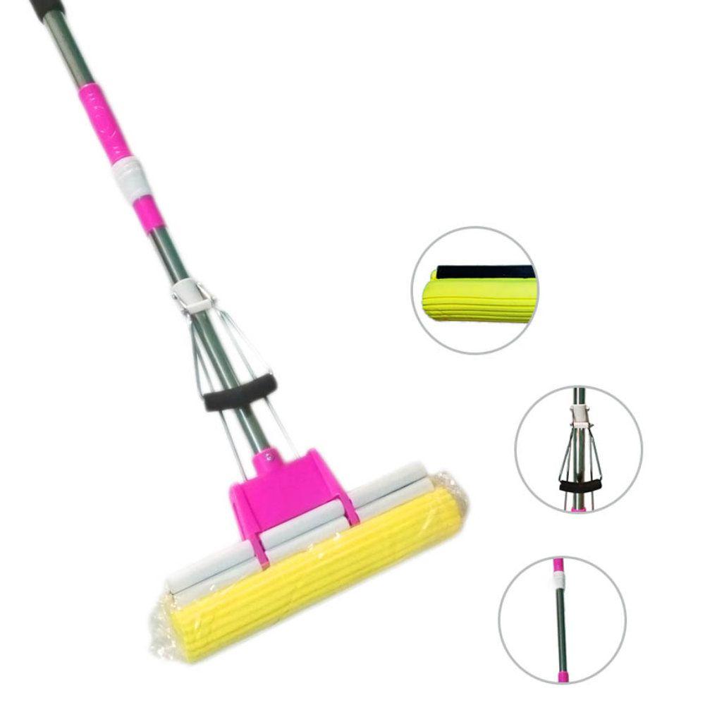 rodo mágico regulável inox esfregão aborve limpa com 3 refis