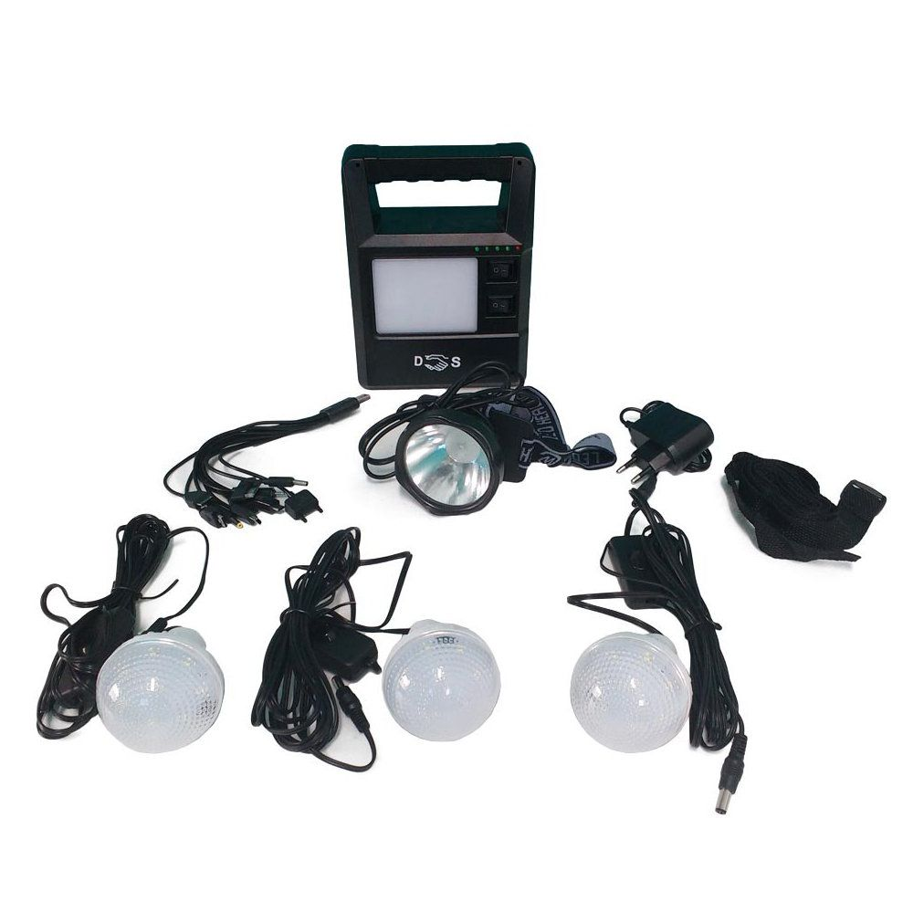 sistema de iluminação de emergência recarregável portátil