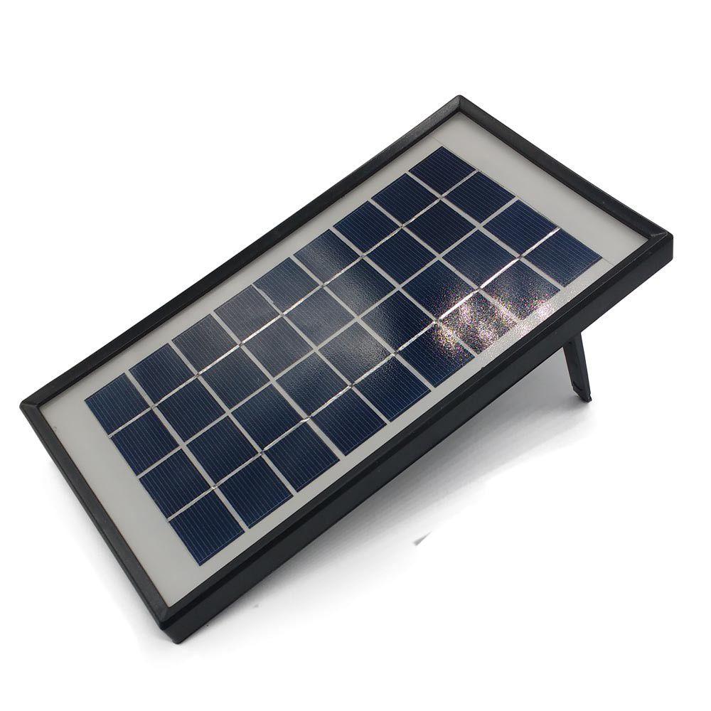 sistema de iluminação emergencial solar recarregável led