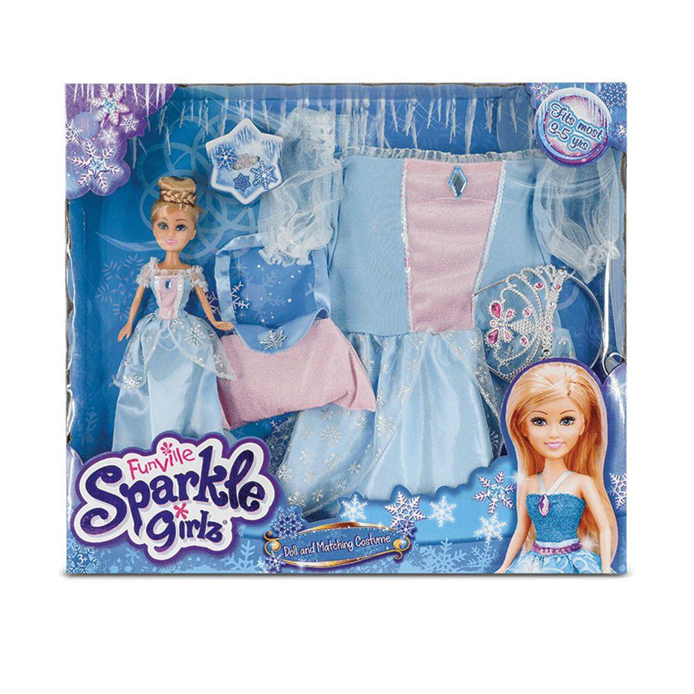 sparkle girlz boneca com fantasia de princesa 3 a 4 Anos dtc