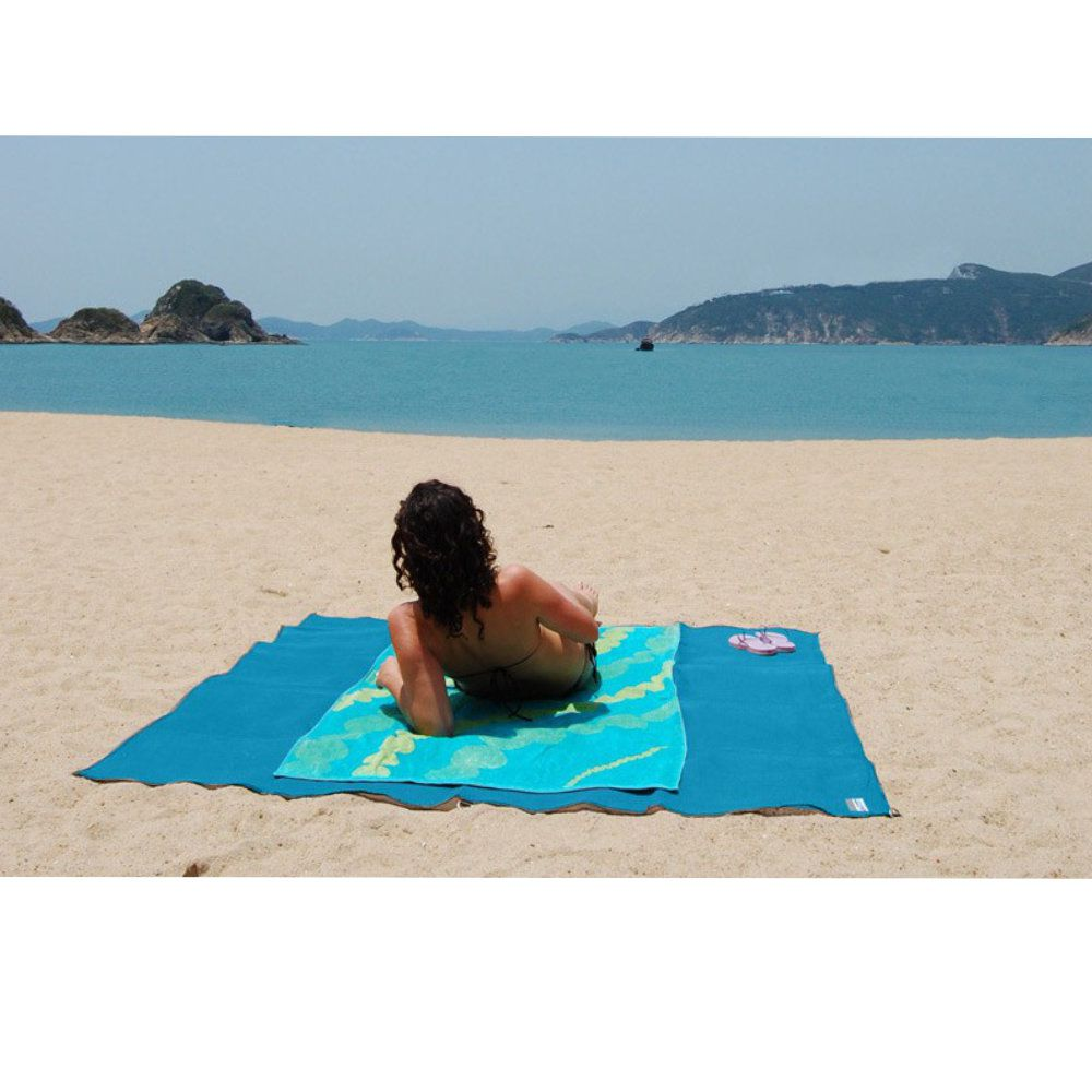 tapete anti areia magico para praia e camping dupla camada