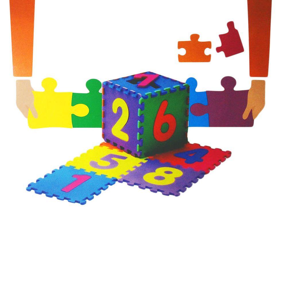 tapete tatame de encaixe letras e numeros infantil 36 peças