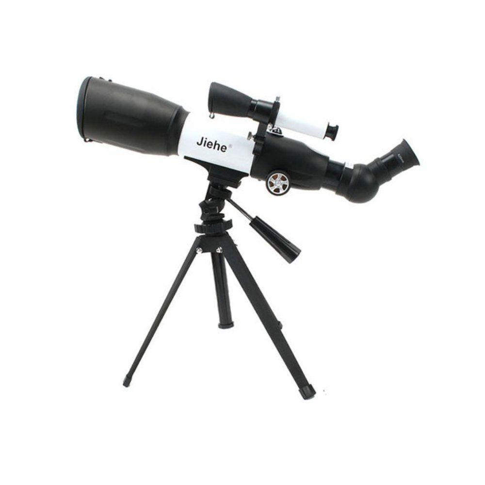 telescópio astronômico com tripé bussola e foco de 350mm