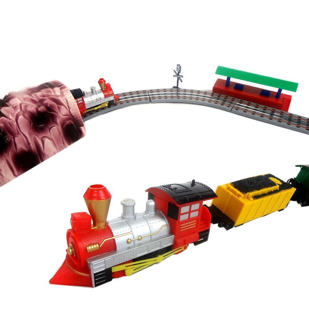 trem locomotiva expresso elétrico acelerador manual pista 3m