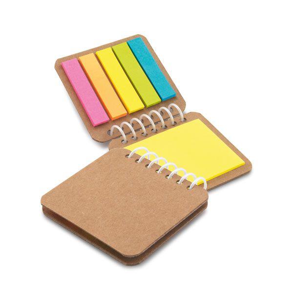 Caderno papel Kraft Postit