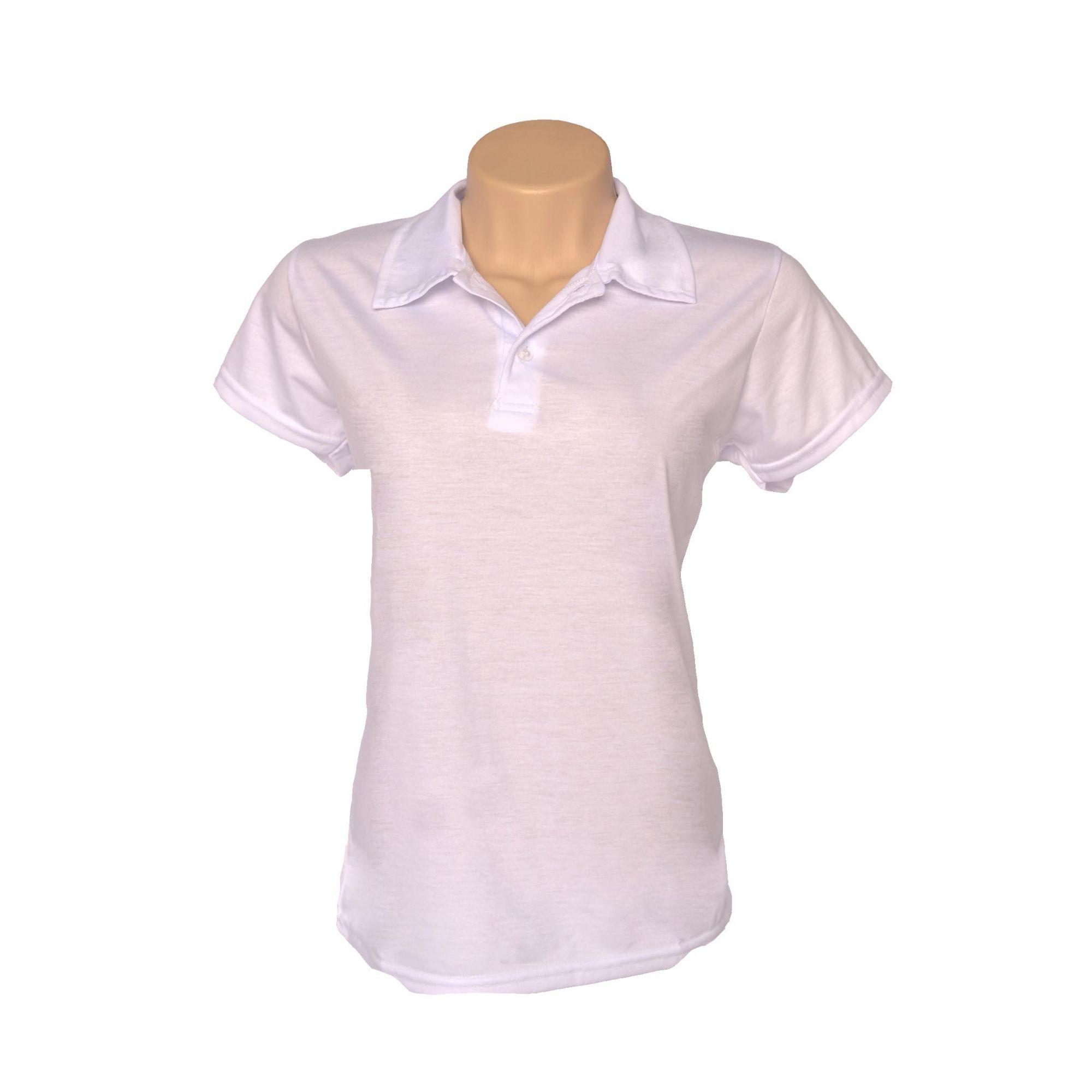Camisa polo feminina - Pra Sublimar b0c13a3bdb9e4
