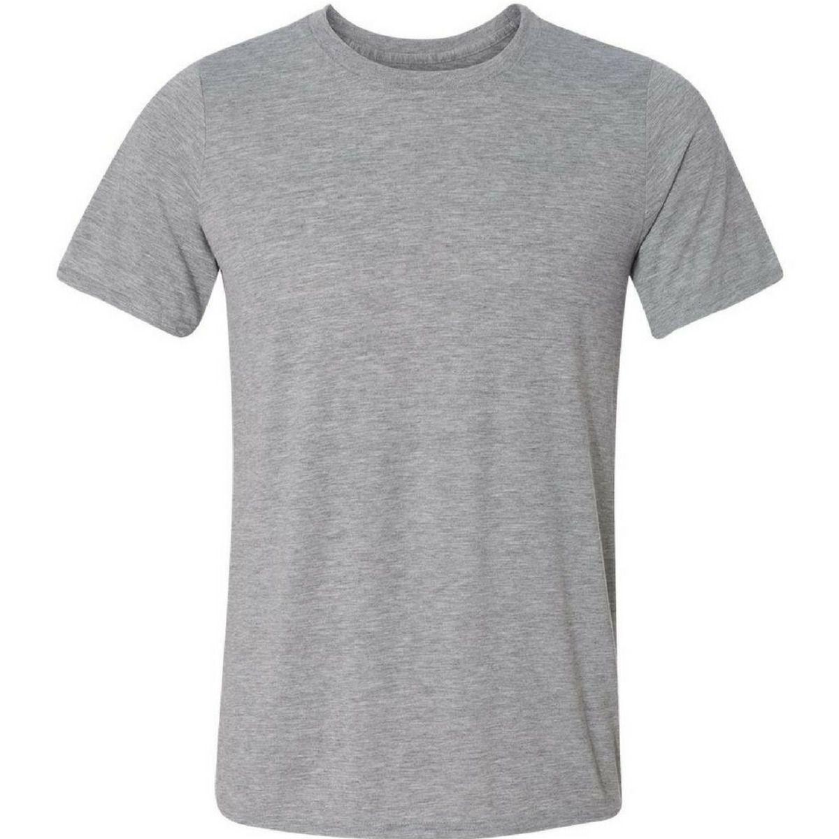 Camiseta adulta manga curta gola redonda cinza mescla