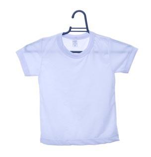 Camiseta Infantil manga curta gola redonda branca