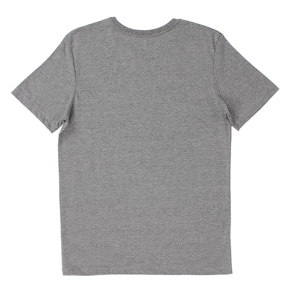 Camiseta Infantil manga curta gola redonda Cinza Mescla