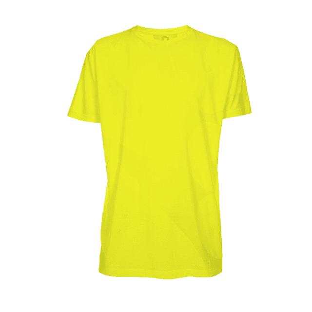 Camiseta infantil manga curta gola redonda amarela