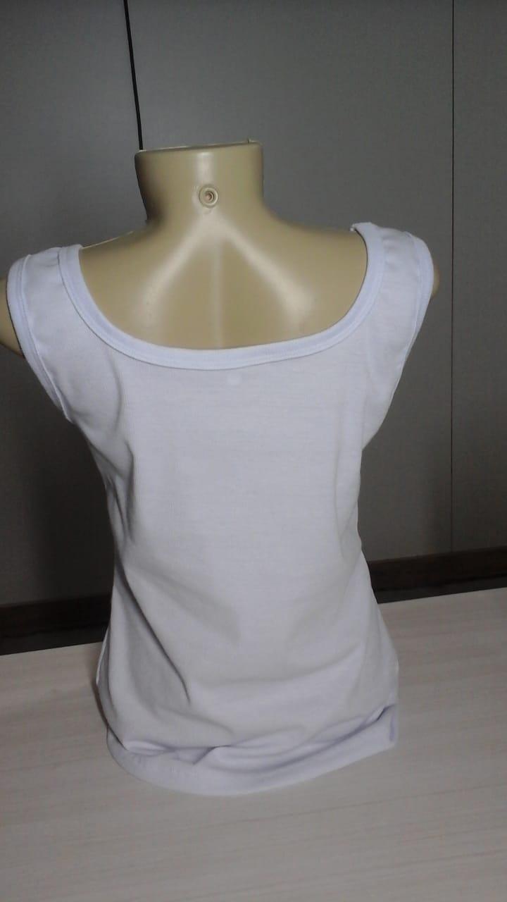 59dd1c4e19 Regata Adulto Feminina Canelada Branca - Pra Sublimar