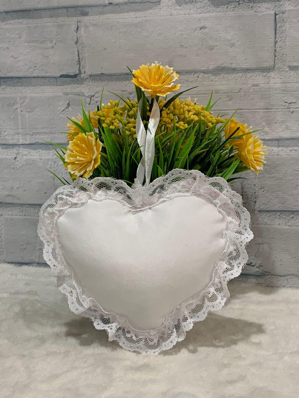 Pingente/chaveiro almofada coração