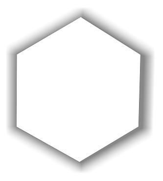 Placa de MDF Hexágonal