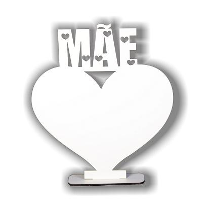 Porta Retrato MDF Coração Mãe