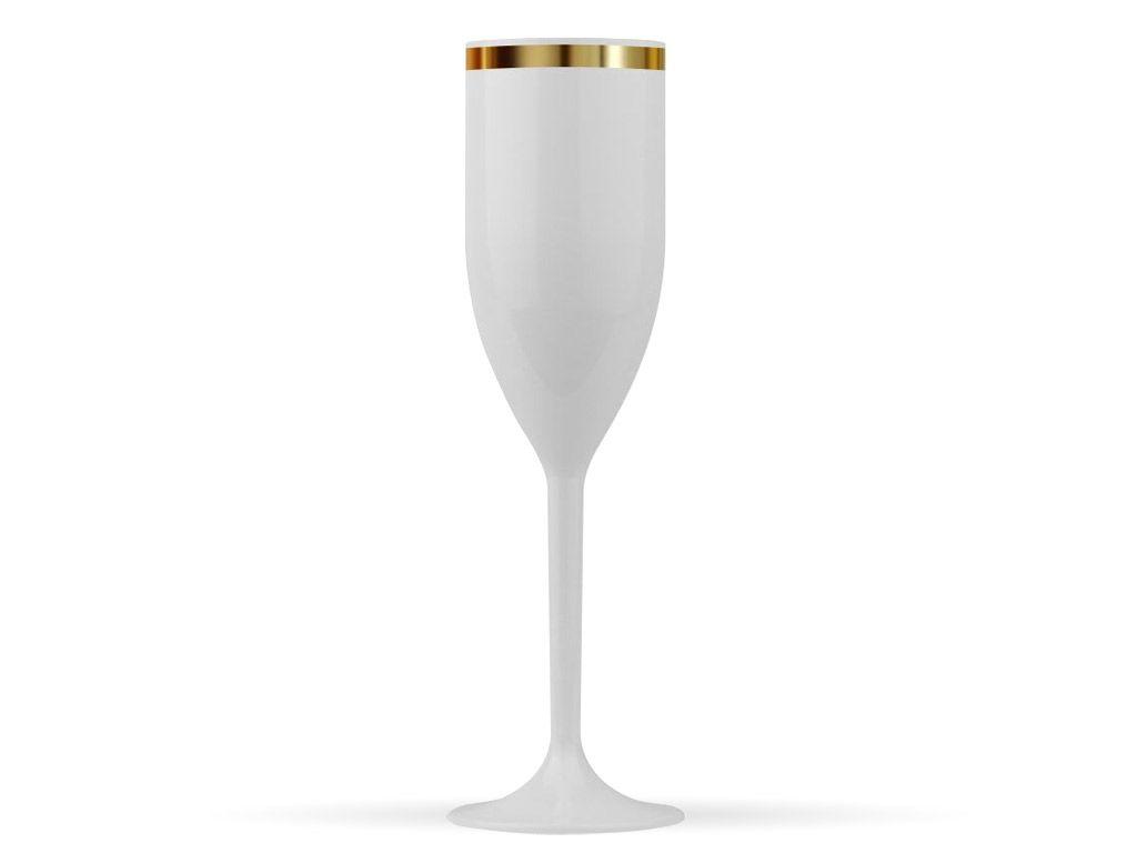 Taça de Champanhe Acrilico com borda