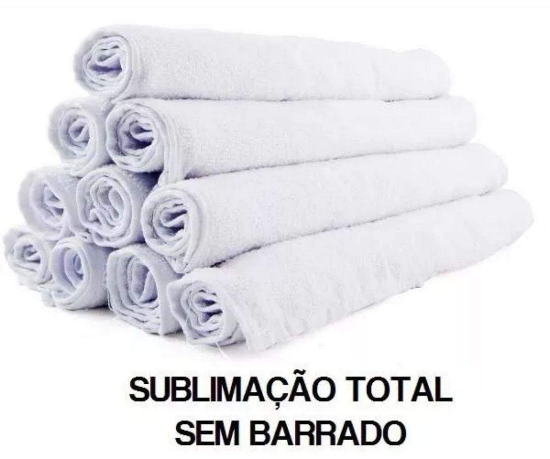 Toalha 100% sublimavel de Mão Branca c/5