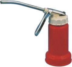 Almotolia c/bomba bico fixo rígido tampa plástica 125 ml