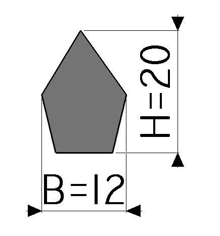Assinalador de borda - 19mm x 12mm - NORMAL