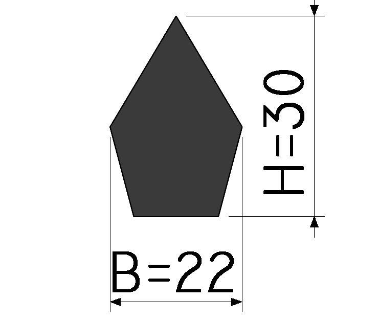 Assinalador de borda - 30mm x 22mm - ESPECIAL