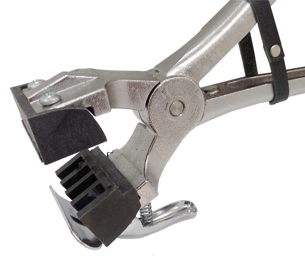 Cjto Tatuadeira aço Inox 4 espaços - Cabo Longo - Eletro Polida - 10mm - L10x17.5