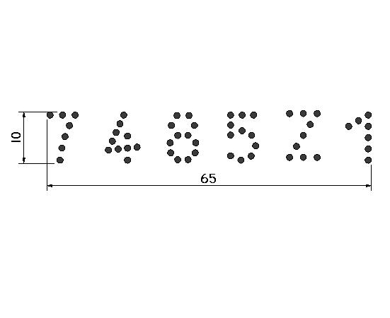 Conjunto Tatuadeira aço Inox 6 espaços - Cabo Longo - Polida - 10 mm - L10 x 17.5