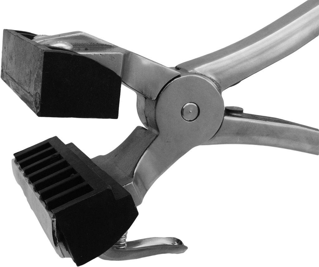 Conjunto Tatuadeira aço Inox 7 espaços - Cabo Curto - Polida - 10 mm - L10 x 17.5