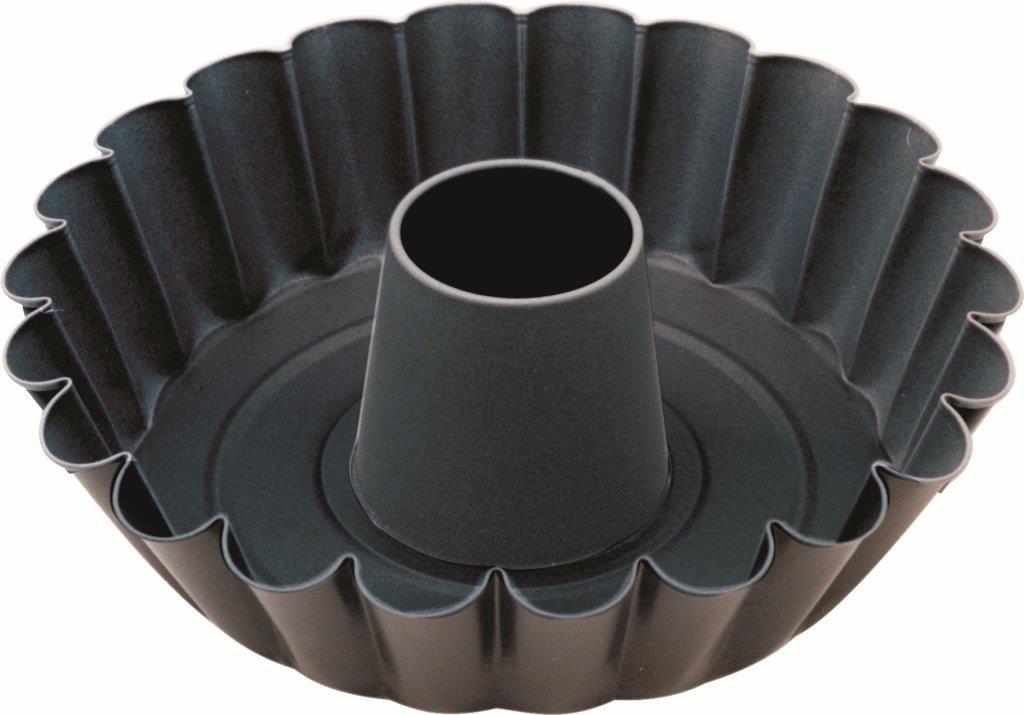Forma C/ Fundo Liso/Borda Dentada C/Tubo - 24 cm - Antiaderente