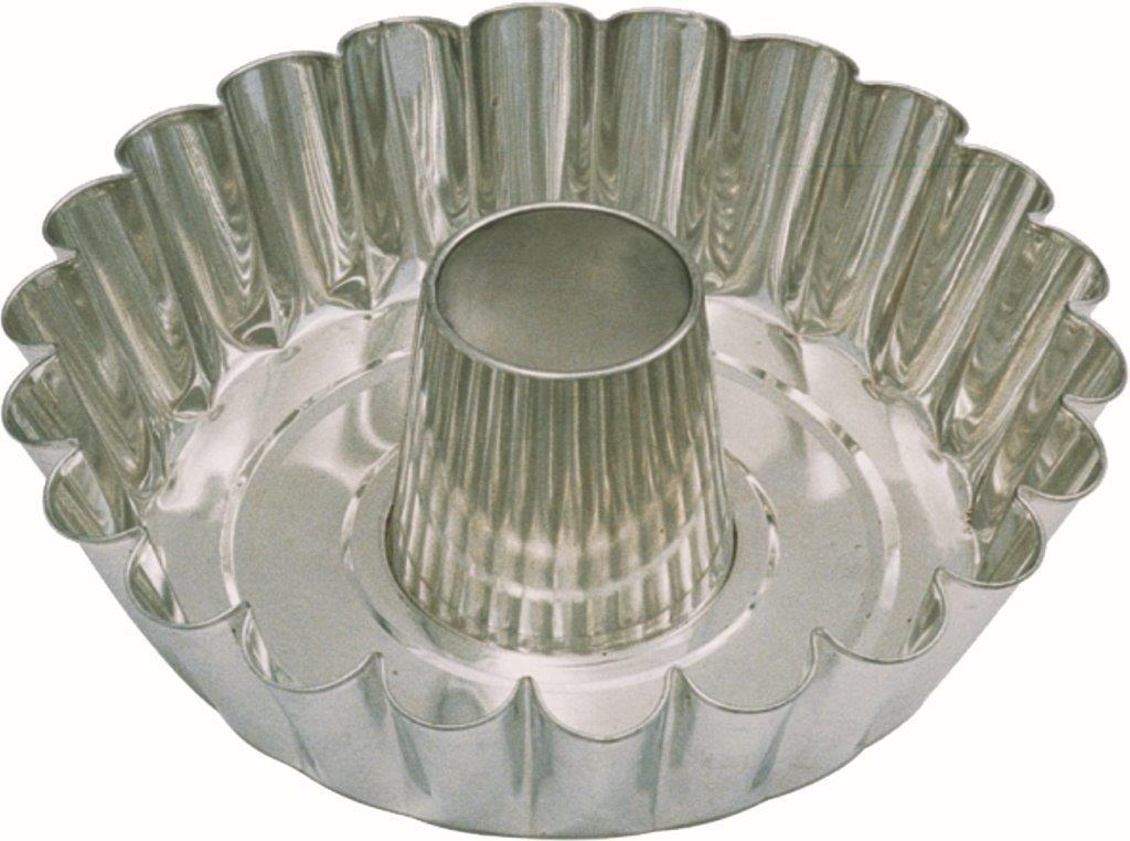 Forma Fundo Liso/Borda Dentada C/Tubo - 24 cm - Flandres